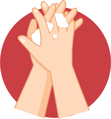 Usap sela-sela jari
