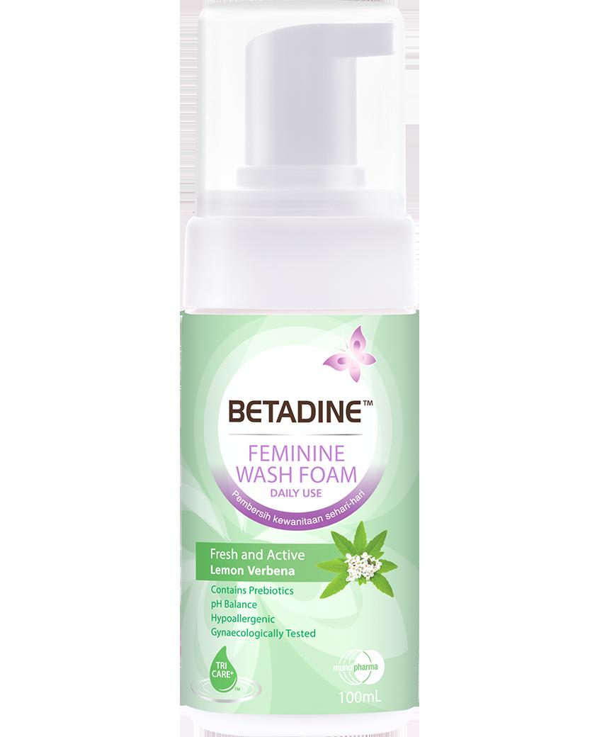 <b>BETADINE™</b> Daily Feminine Wash Foam Fresh & Active